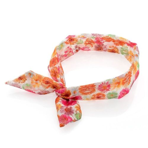 Coloured Floral Soft Fabric Lace Knot Wired Headband